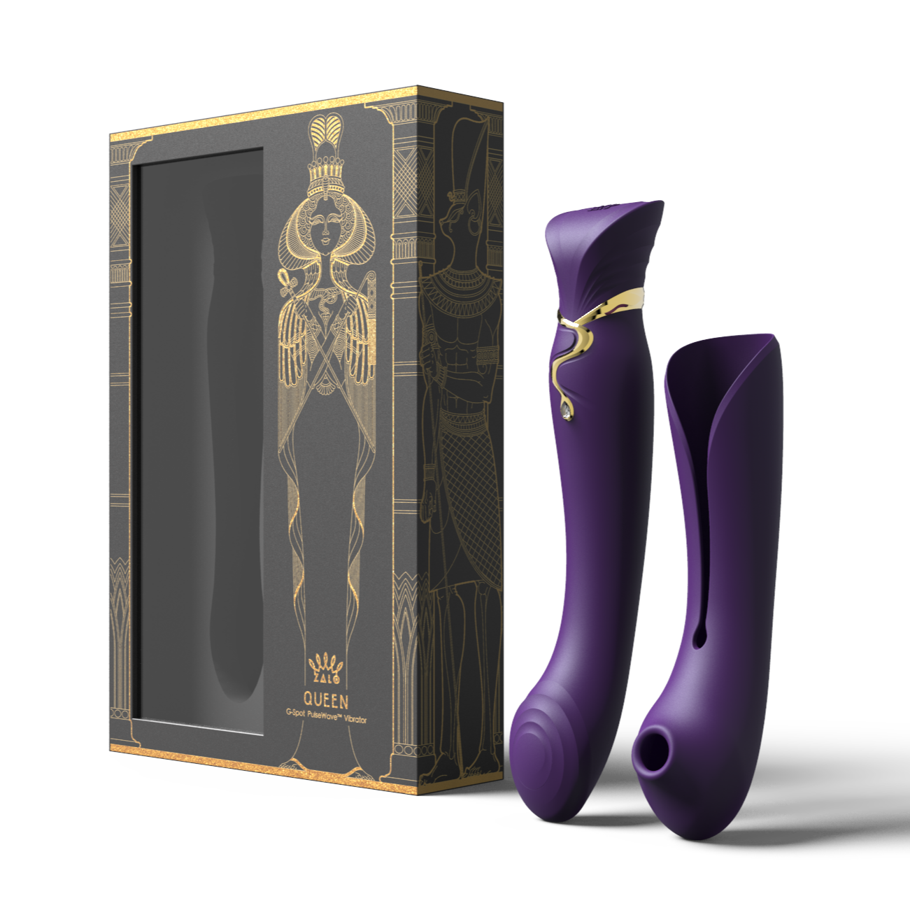 Queen Set G-spot PulseWave Vibrator with Suction Sleeve